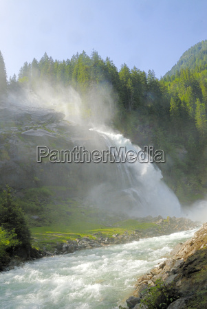 austria wodospad gora krimml tauern gerlos