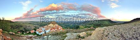 sunset gorski krajobraz widok starych ares