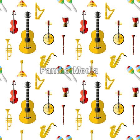 cyfrowe ikony niebieskich instrumentow muzycznych z